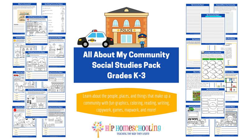 All About My Community Social Studies K-3 Printable Pack