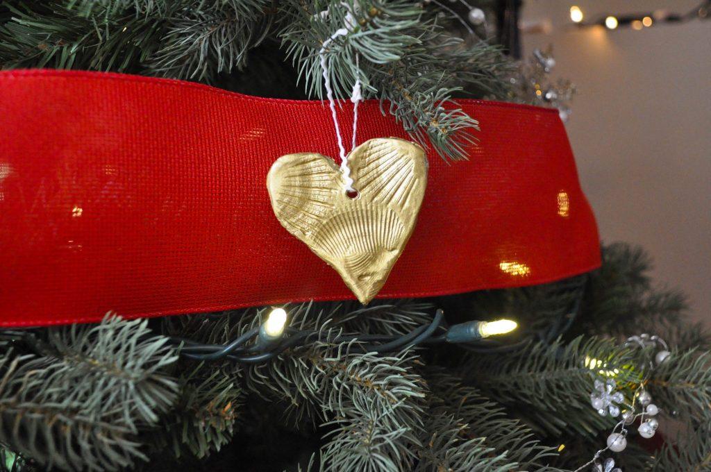 handmade Christmas tree ornaments using clay
