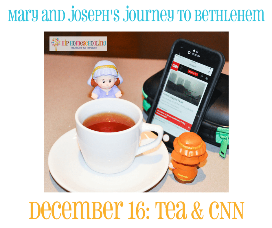 Elf on the Shelf Alternative- Journey to Bethlehem. Fun ideas for each day leading up to Christmas with pictures! December 16th (1)