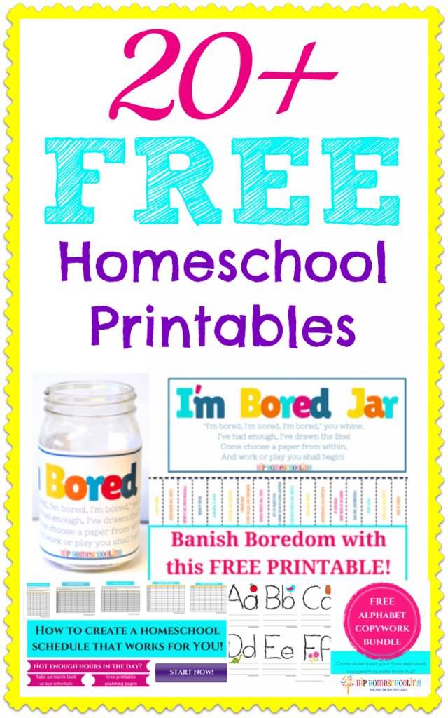 20+ Free Homeschool Printables, this is an awesome list!