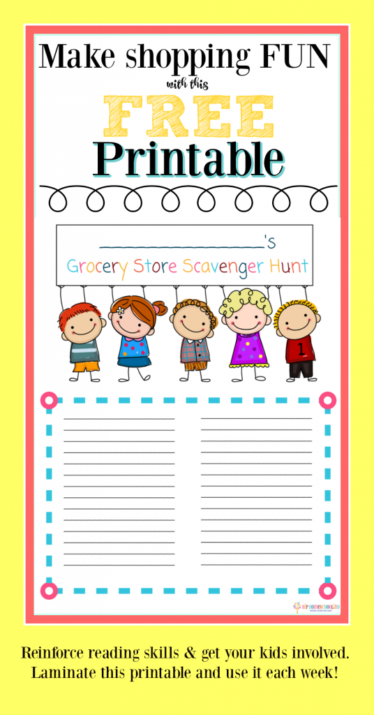 Grocery Store Scavenger Hunt Printable: This mom was at her whits end on her solo grocery shopping trip with kids when she had an epiphany! Get your free scavenger hunt printable HERE!