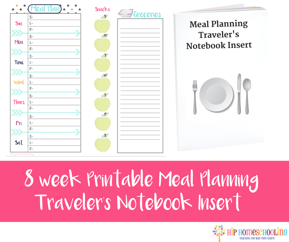 Meal Planning grocery shopping booklet