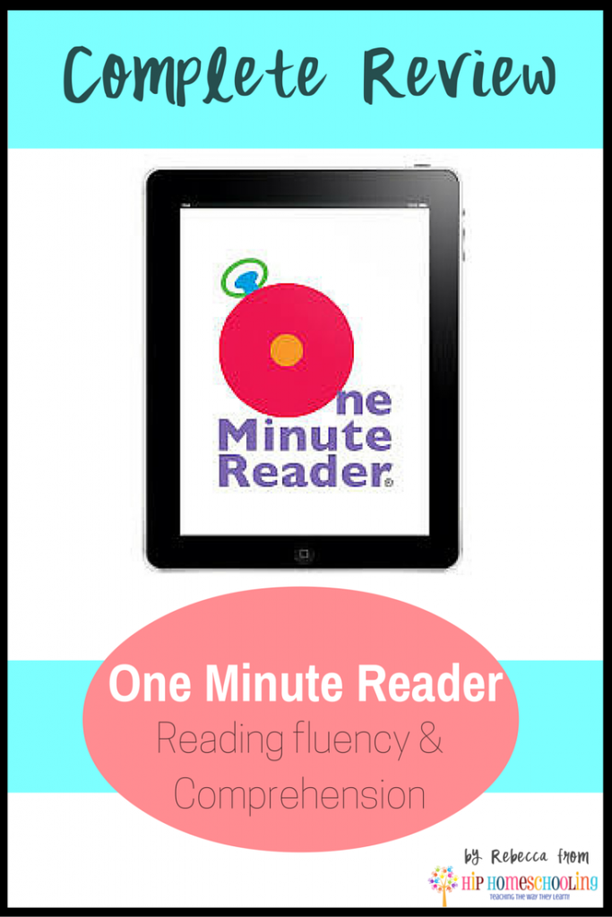 One Minute Reader: Hip Homeschooling's Top Pick of 2015 for Reading Fluency and Comprehension! Come enter to win a FREE level!