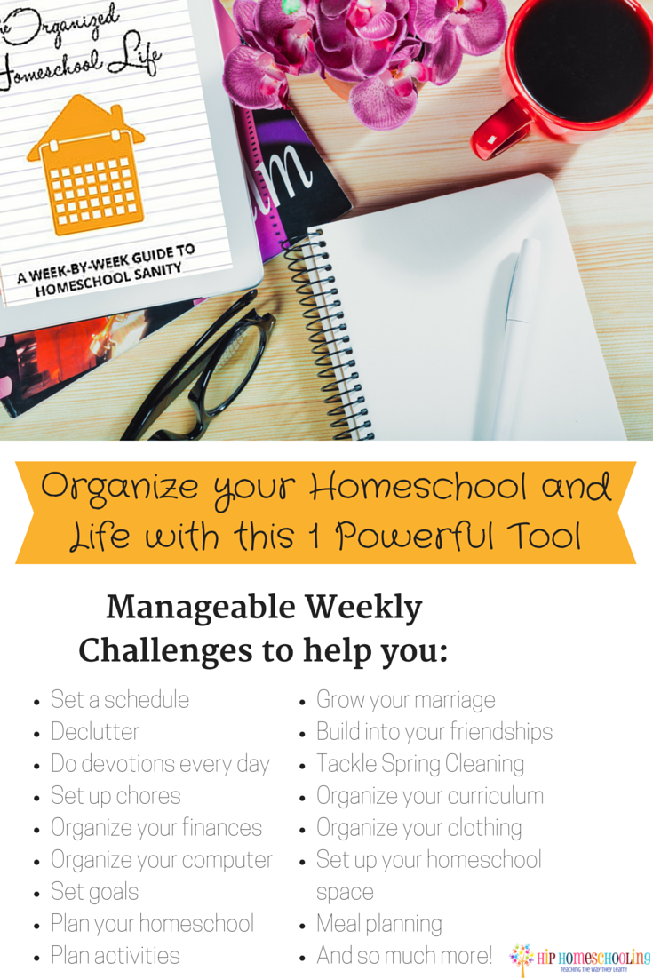 Organize your Homeschool and Life with this 1 Powerful Tool...