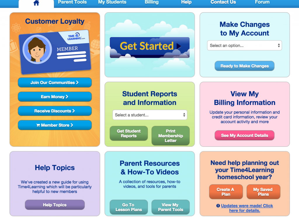 Time4Learning Reviews: Parent Dashboard