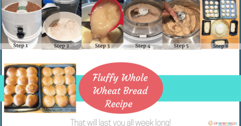 Fluffy Whole Wheat Bread Recipe that will last you the week!