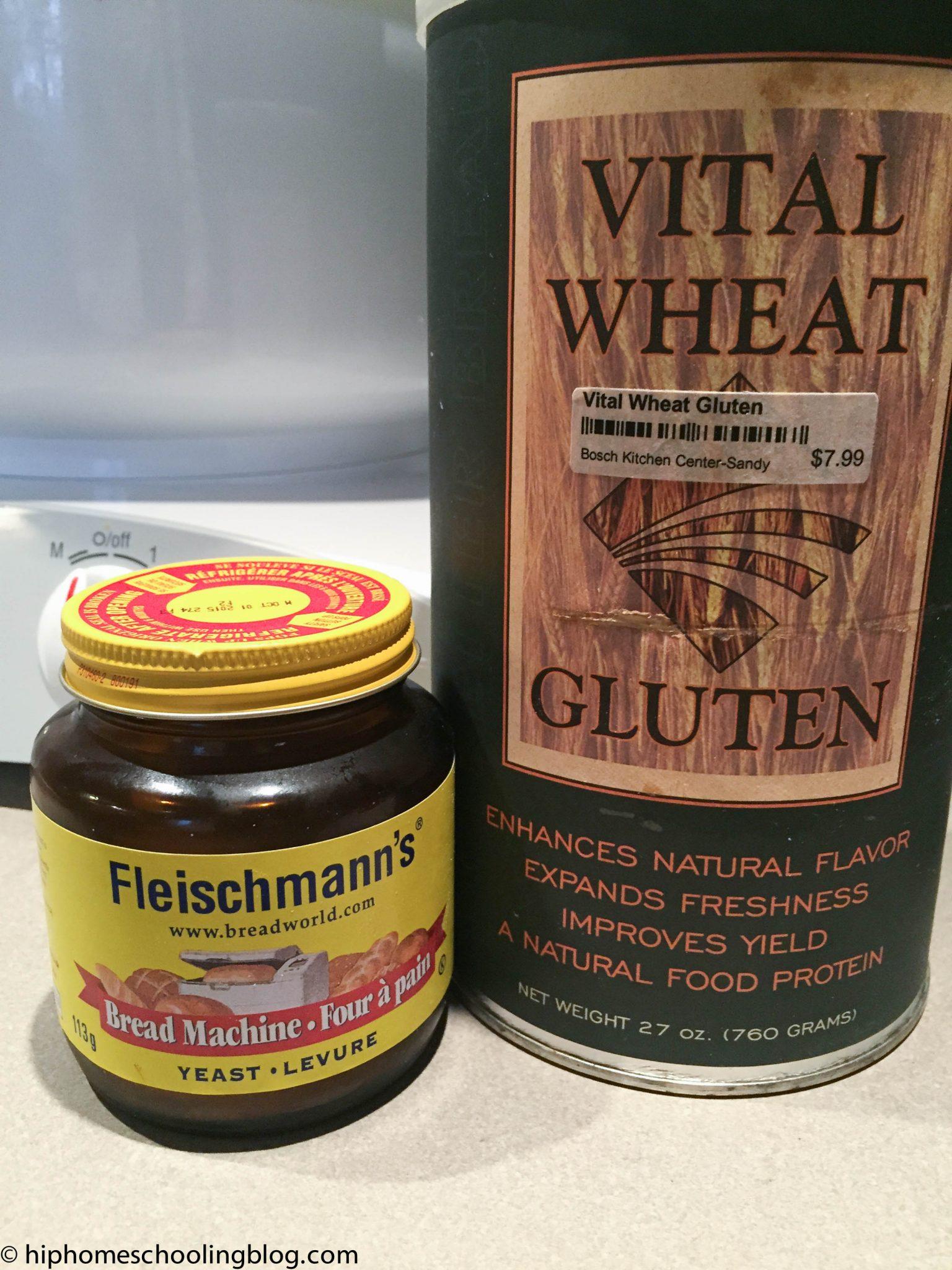 Vital Wheat Gluten for whole wheat bread recipe