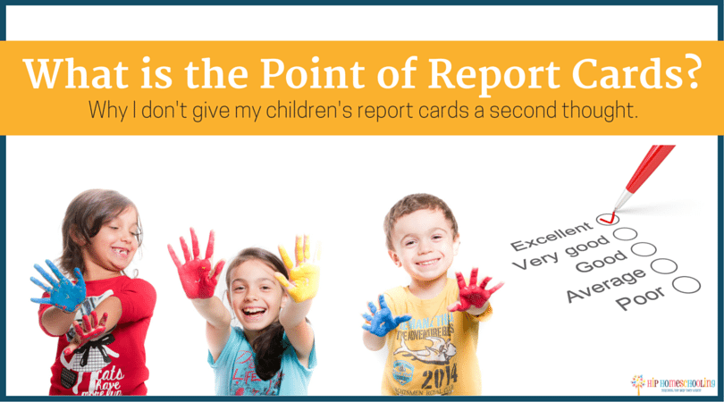 What is the point of report cards?