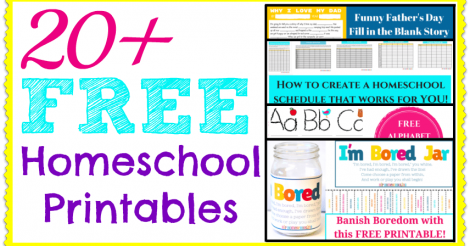 20+ FREE Homeschool Printables!
