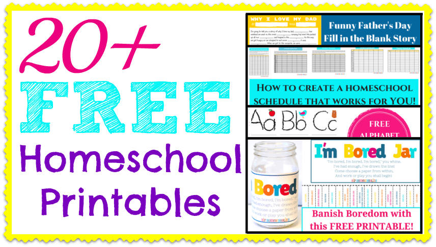20 free homeschool printables