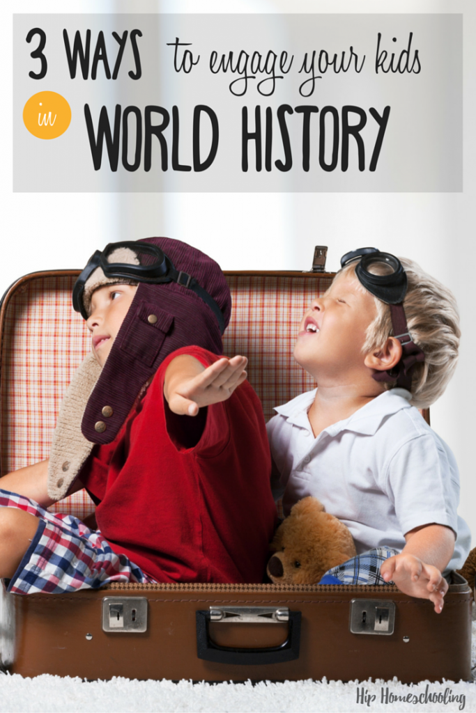 3 Ways to engage your kids in world history in your homeschool with these engaging world history lessons, crafts, and activities! I bet you haven't thought of these!