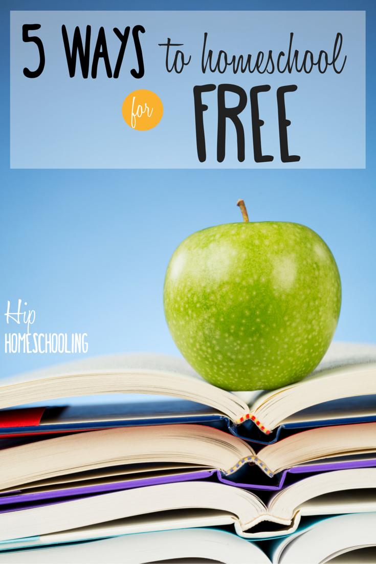 5 Ways to Homeschool for Free- Homeschool on a budget, frugal homeschooling, cheap homeschooling, free homeschooling