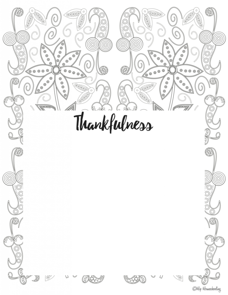 Gratitude Journal Template 4