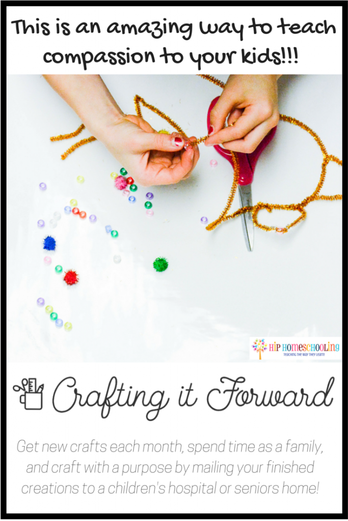 crafting it forward review- This is an amazing way to teach compassion to your kids!!!
