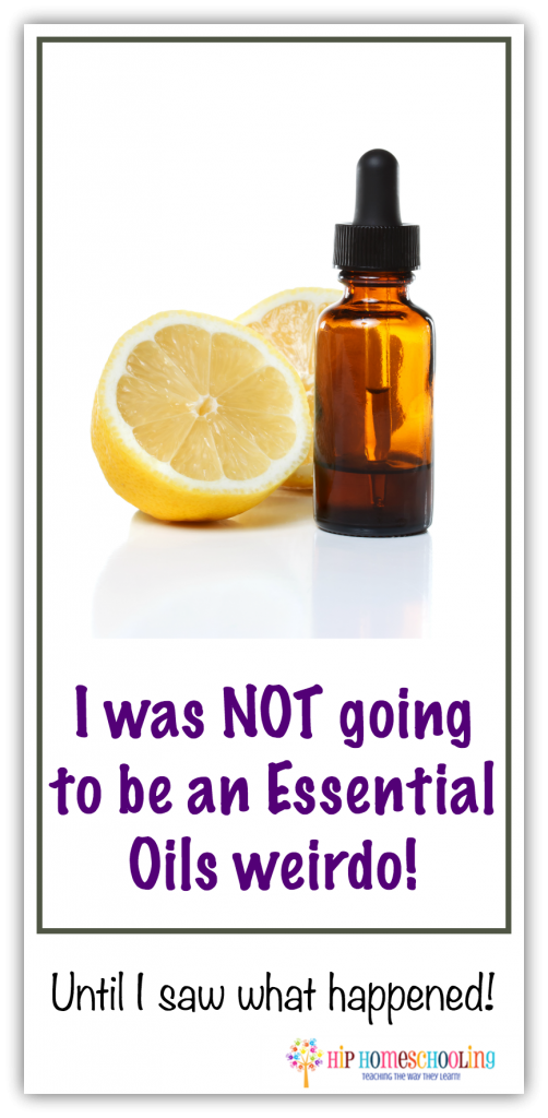 I was NOT going to be an essential oil weirdo... until I saw what happened! Click here to read more!