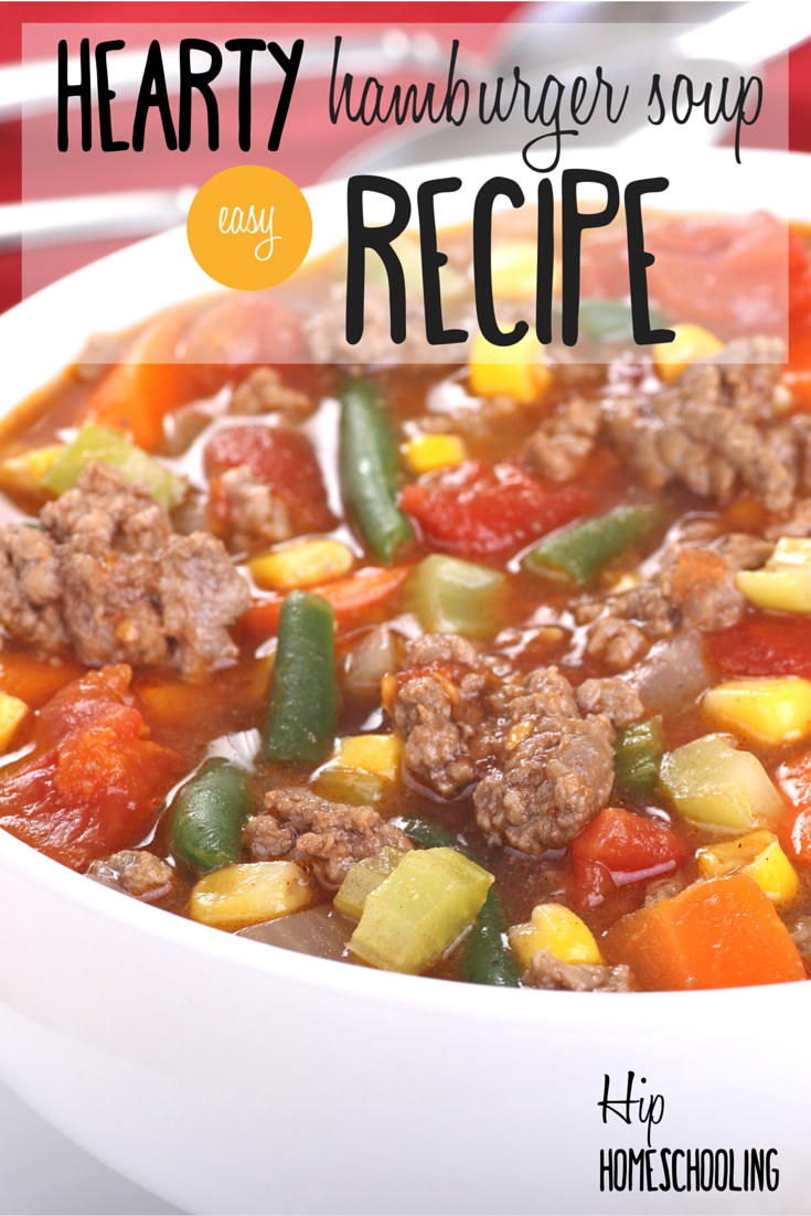 hearty hamburger soup recipe: soup recipes | soups for winter | soup recipes healthy | soup recipes with ground beef
