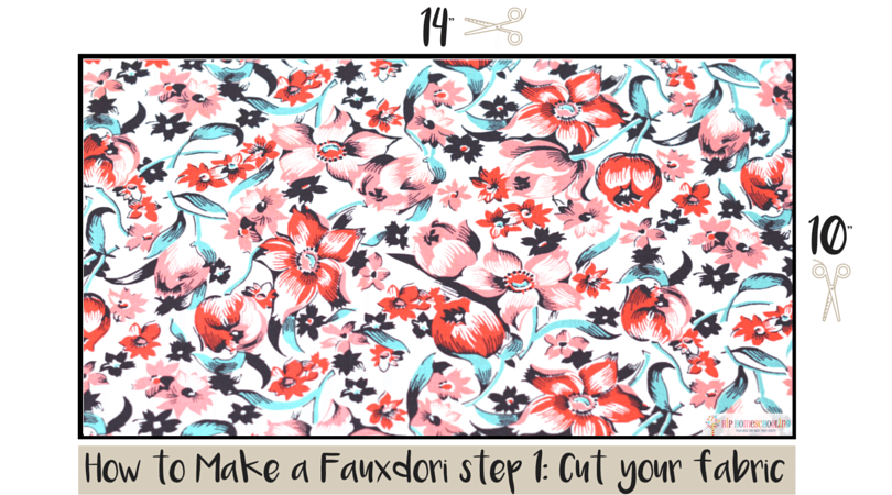how to make a fauxdori step 1- cut your fabric