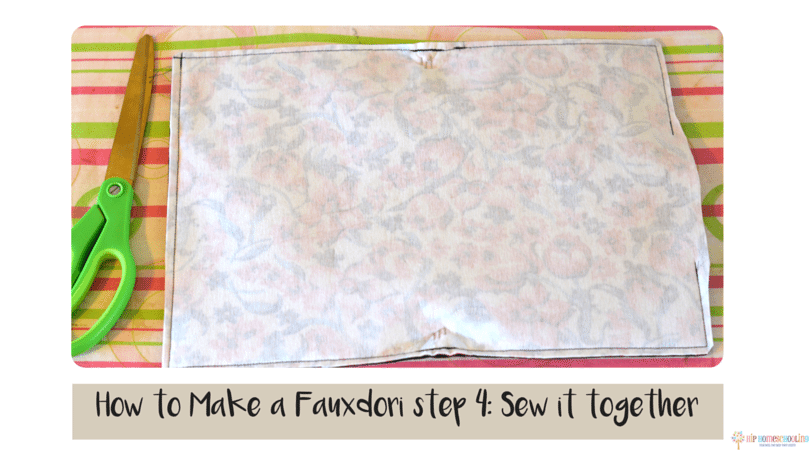 how to make a fauxdori step 4- sew it together (1)