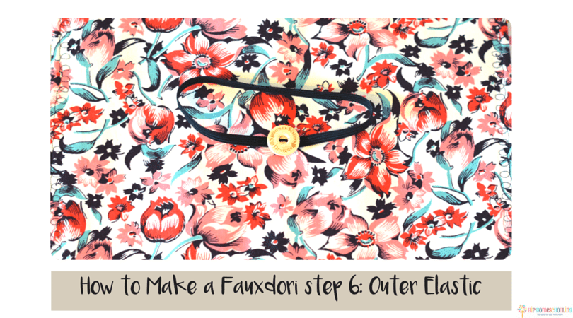 how to make a fauxdori step 6- outer elastic