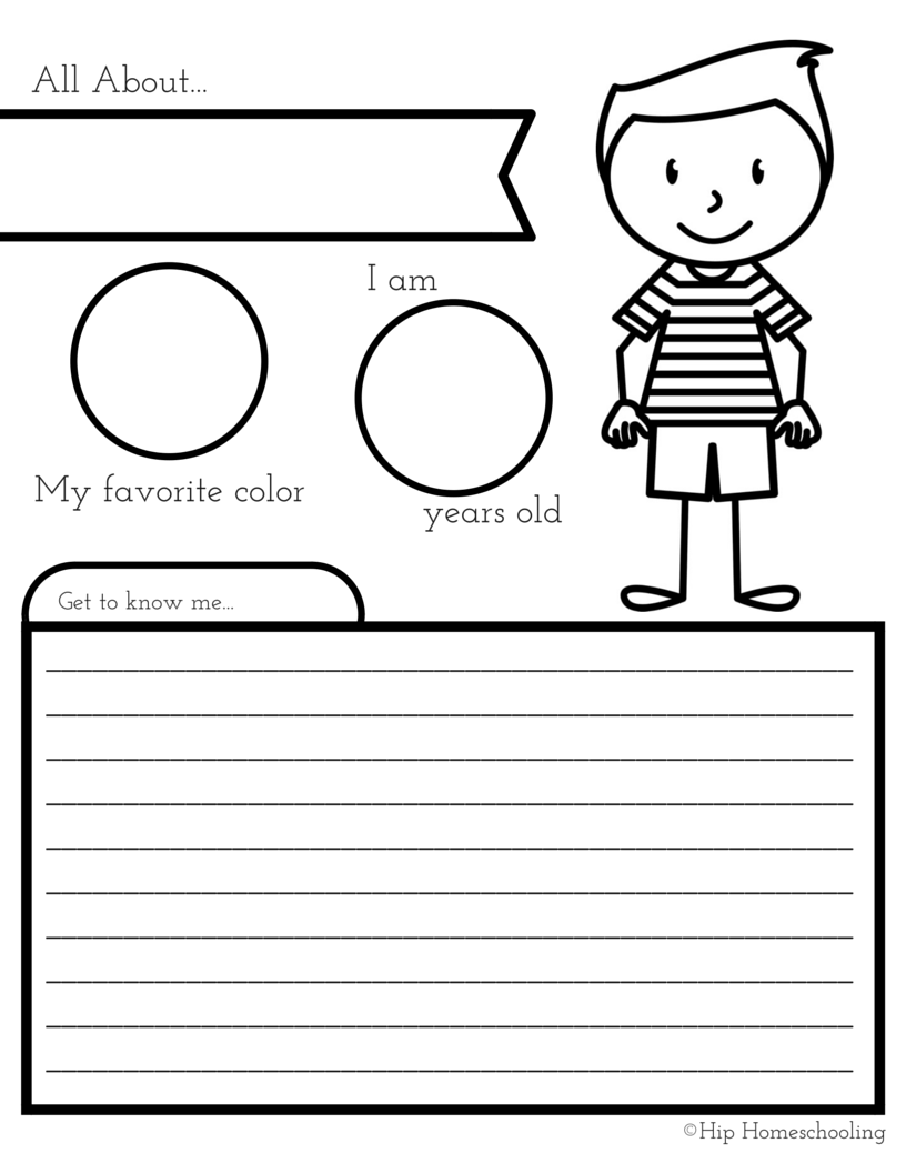 photograph about All About Me Printable Worksheets titled All With regards to Me Worksheet: A Printable E book for Basic Young children