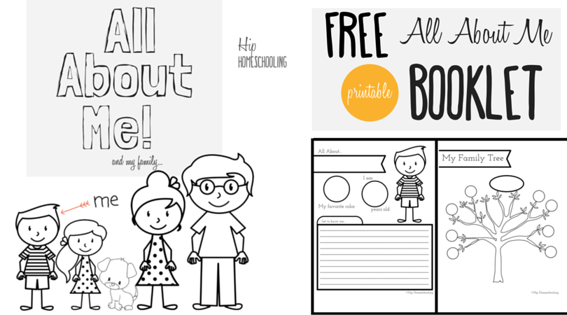 Printable All About Me Worksheet Book For Kids