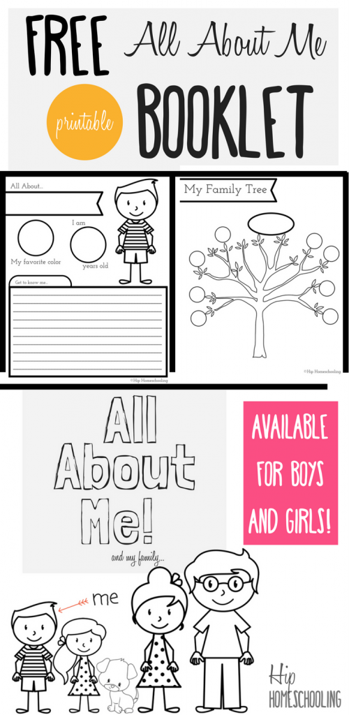 all about me worksheet for kids free printable all about me booklet for homeschool kids - Printable Picture Book