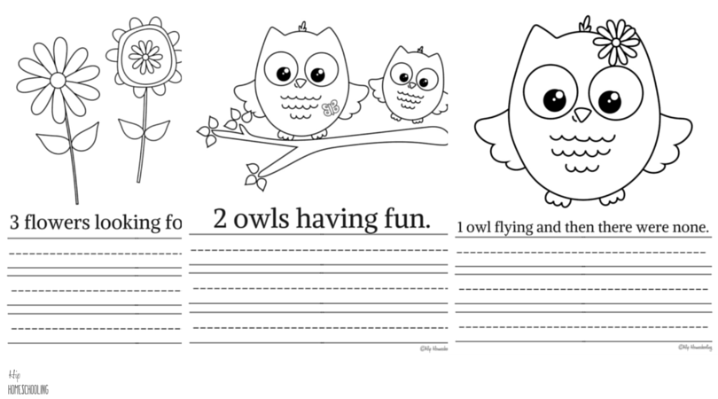 Printable Owl Coloring Pages and Copywork Bundle