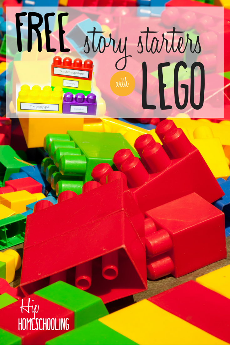 400 Free Lego creative writing prompts for hands on kinesthetic learners: build a story with these free printables and over 400 stories! story starters for kids   writing prompts   language arts   homeschool
