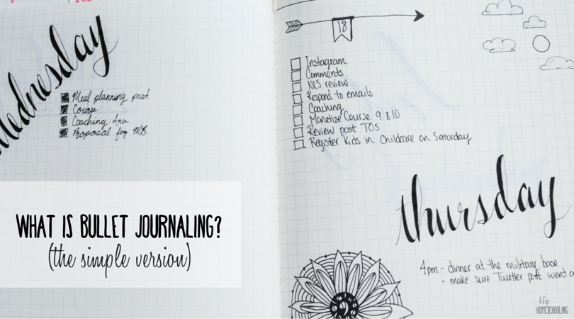 What is Bullet Journaling? (The Simple Version)