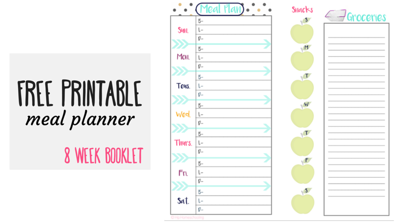 check out this free meal planner and grocery list midori insert
