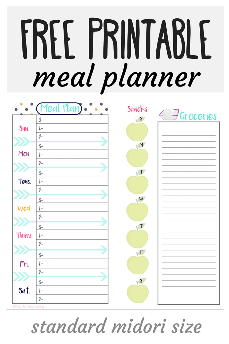 Dynamic image inside free printable weekly meal planner