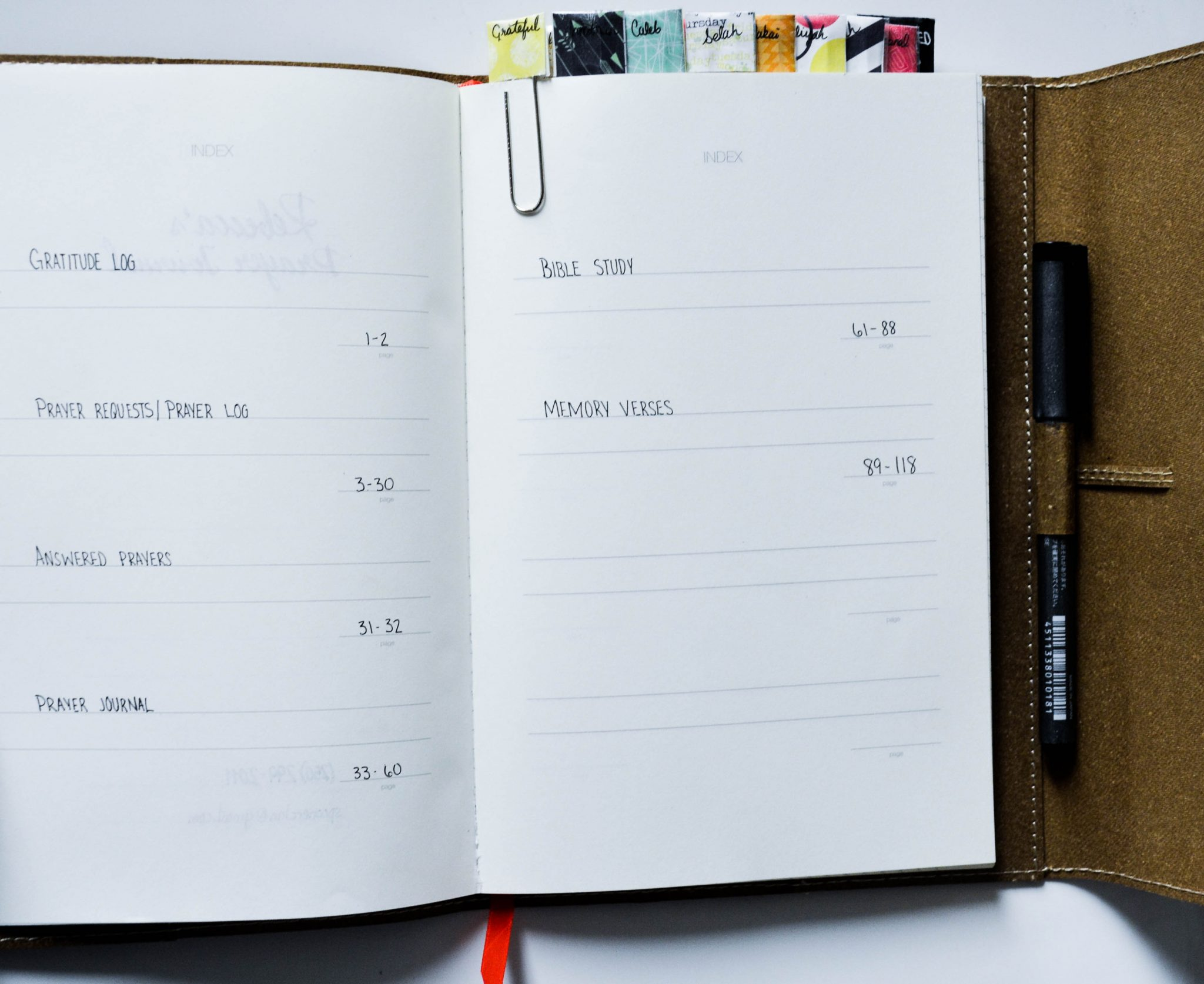 How to make your own prayer journal: the setup