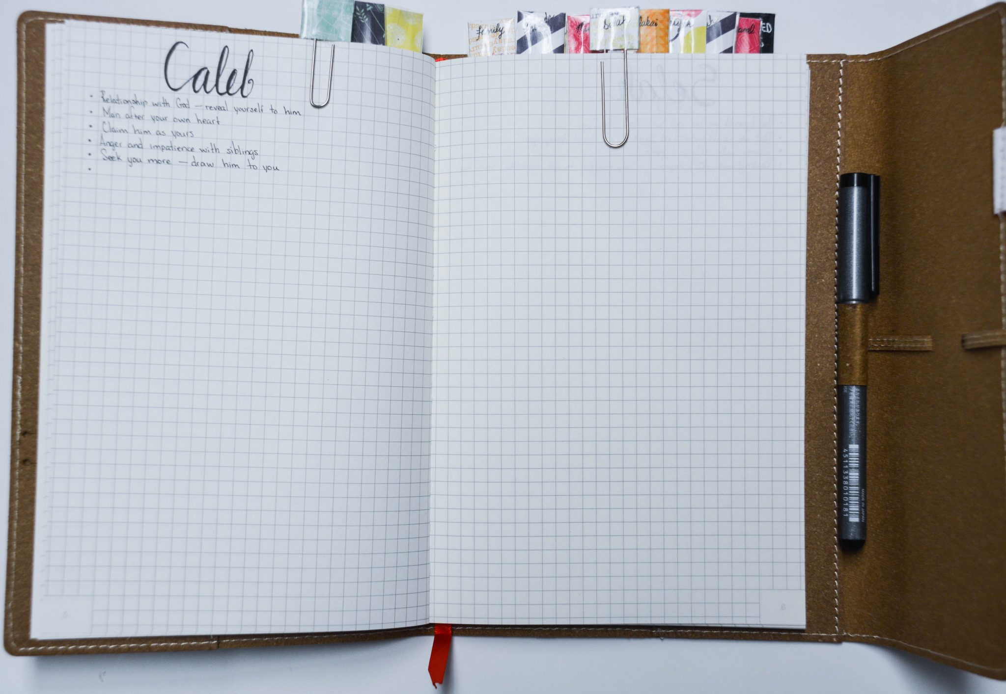 How to make your own prayer journal: prayer sections