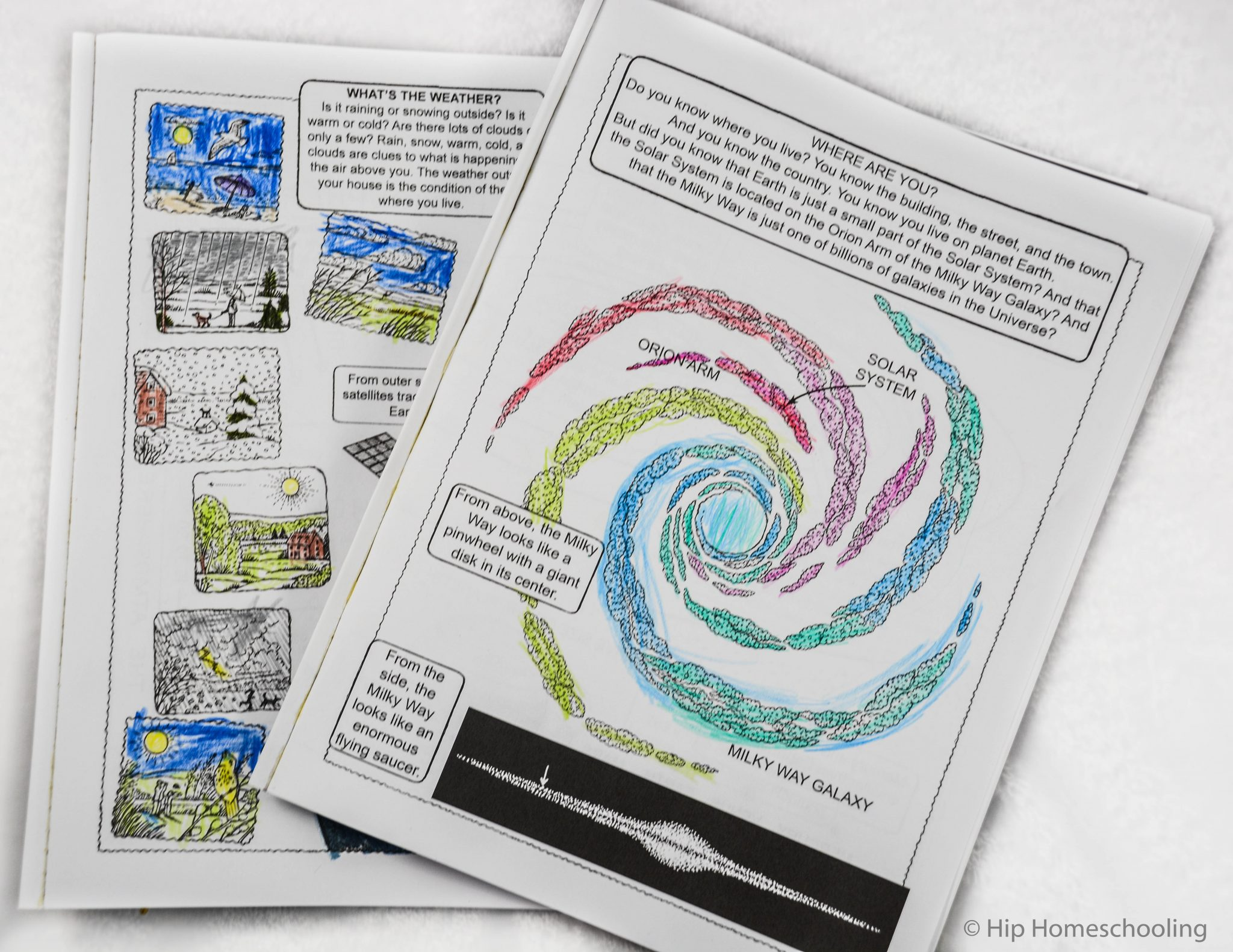 Educational Coloring book with Dover Publications