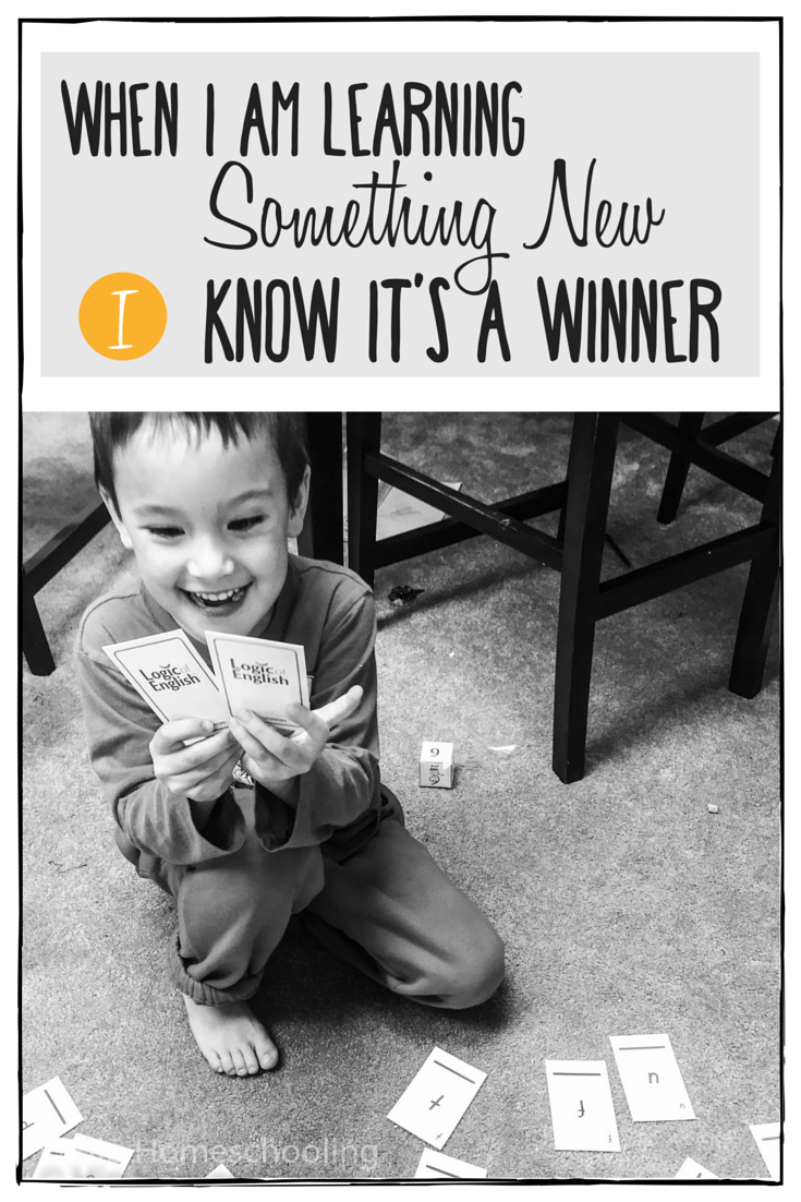 Homeschool Language Arts Review: When I am learning something new, I know it's a winner! Come check this one out! homeschool curriculum | curriculum review | logic of english review | phonics program | spelling curriculum | grade 1 curriculum | grade 1 language arts | grade 1 phonics | grade 1 spelling | homeschool | homeschooling