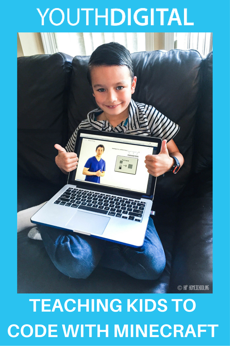 Teaching kids to code with Minecraft: coding for kids | Youth Digital Review | coding with kids | coding course | how to teach coding | homeschool coding