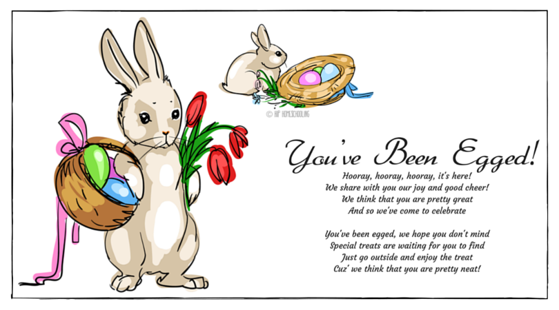 graphic regarding You've Been Egged Printable named Youve Been Egged Printable