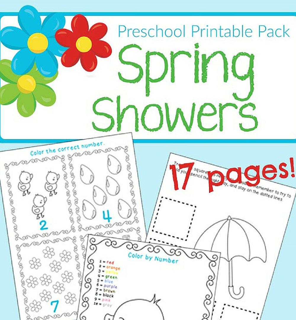 Free Spring Themed Printable Worksheets for Preschool