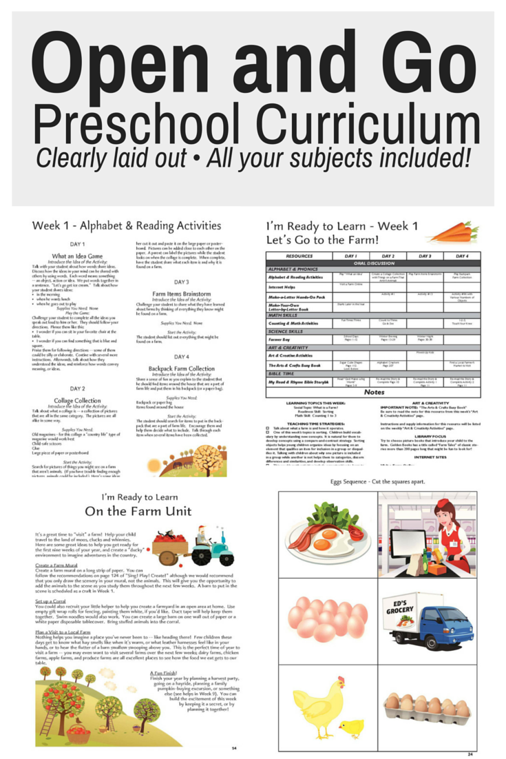 preschool curriculum program open and go preschool curriculum 473