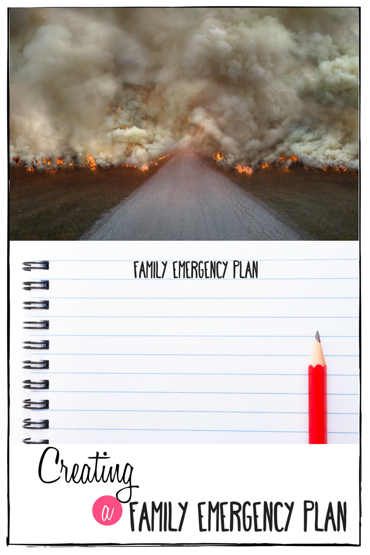 Creating a Family Emergency Plan | Emergency Preparedness | Emergency Kit | preparing for natural disaster | preparing for an emergency | emergency binder | creating an emergency plan | emergency plan | fire drills for kids |