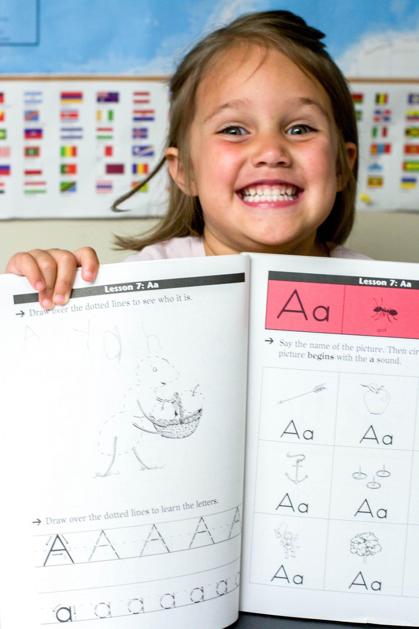 A proud little preschooler