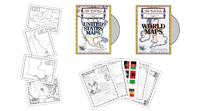 Hands on History Maps for Homeschooling