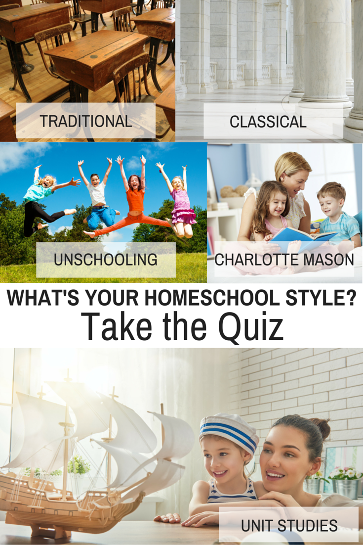 What's your Homeschool Style? Take the free quiz here and find out! charlotte mason | charlotte mason homeschool | eclectic homeschooling | eclectic homeschool | unit study homeschool | classical homeschool | classical homeschooling | traditional homeschool | traditional homeschooling | unschooling | unschooling ideas | homeschool | homeschooling | new to homeschooling | new to homeschool