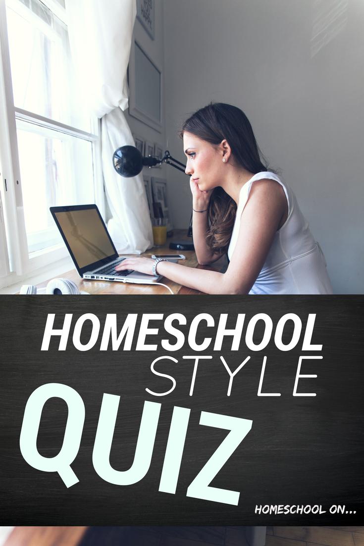 Homeschool Style Quiz