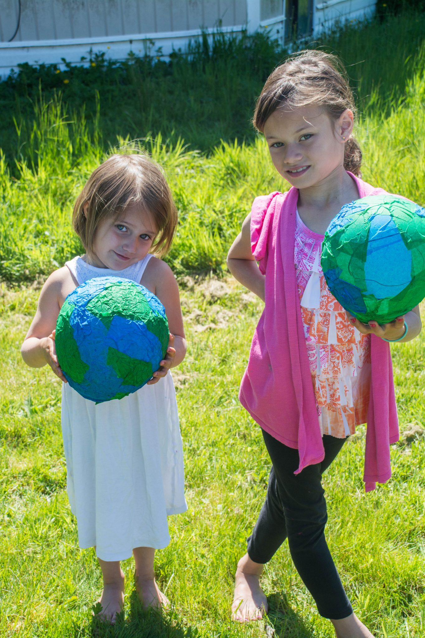 craft subscription box: making our own paper cache planet earths!