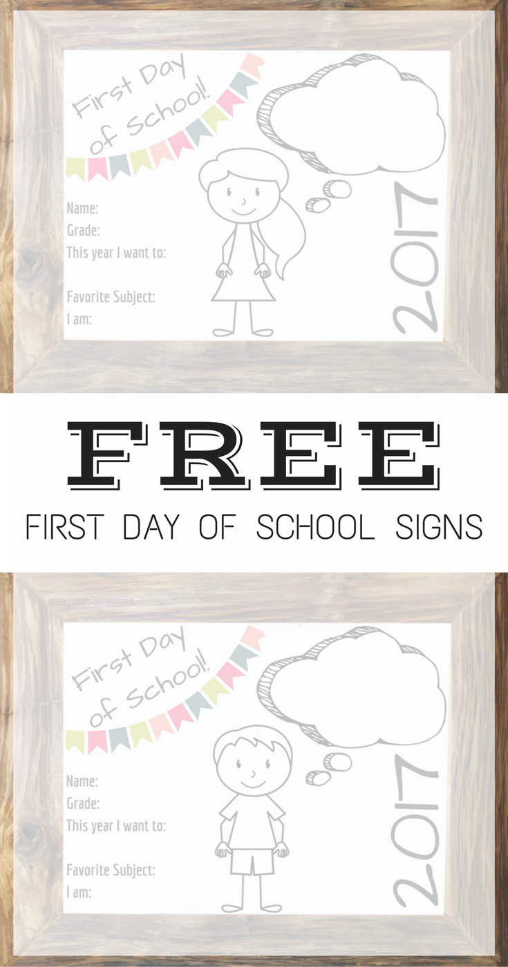 FREE First day of school signs Free First Day of School Signs for preschool to grade 12! Free first day of school signs | first day of school signs | first day of school signs free | first day of school signs printable | first day of school signs diy | first day of school signs chalkboard | first day of homeschool | first day of homeschool traditions | first day of homeschool ideas | first day of homeschool signs | first day of homeschool pictures | first day of homeschool activities | first day of school 2016 | first day of school 2017 | first day of homeschool 2016 | first day of  school 2017 | first day of homeschool 2017/2018