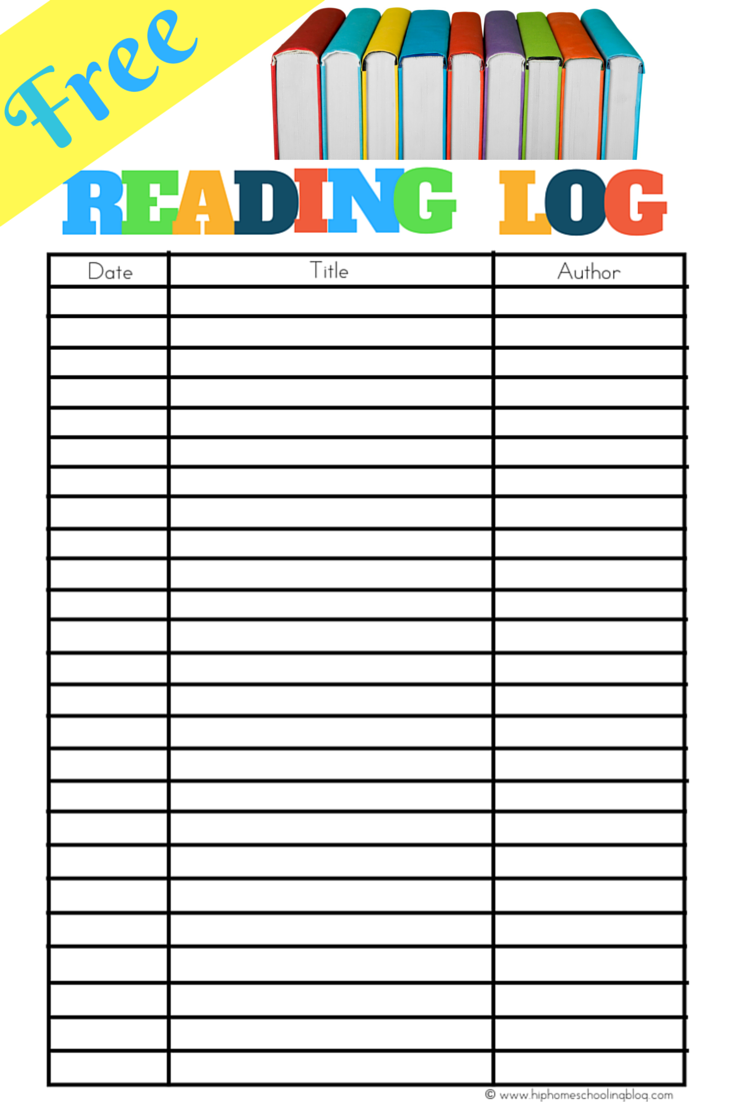 Lively image regarding free printable reading logs