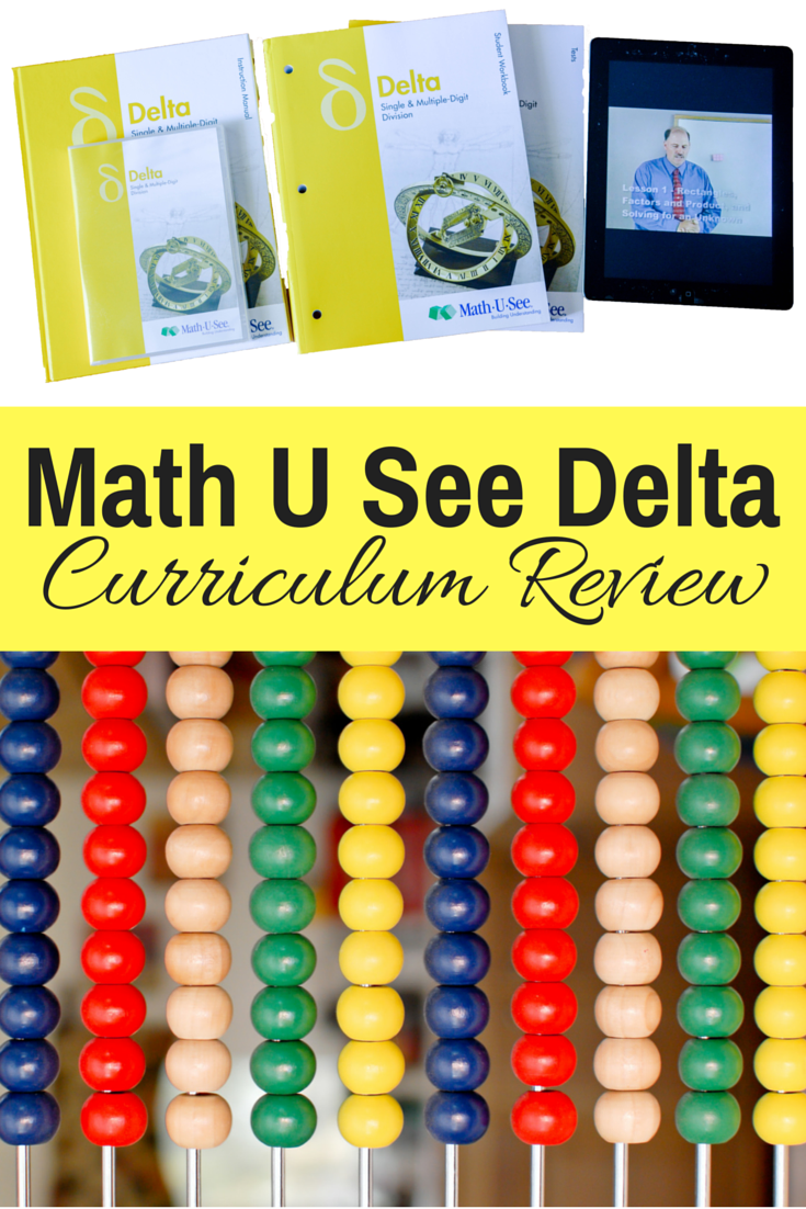 Math U See Delta Review: Homeschool math | homeschool math curriculum | homeschooling math | elementary math | teaching fractions | hands on math | kinesthetic math | curriculum review | math curriculum | math program | how to teach fractions | math manipulatives | fun math