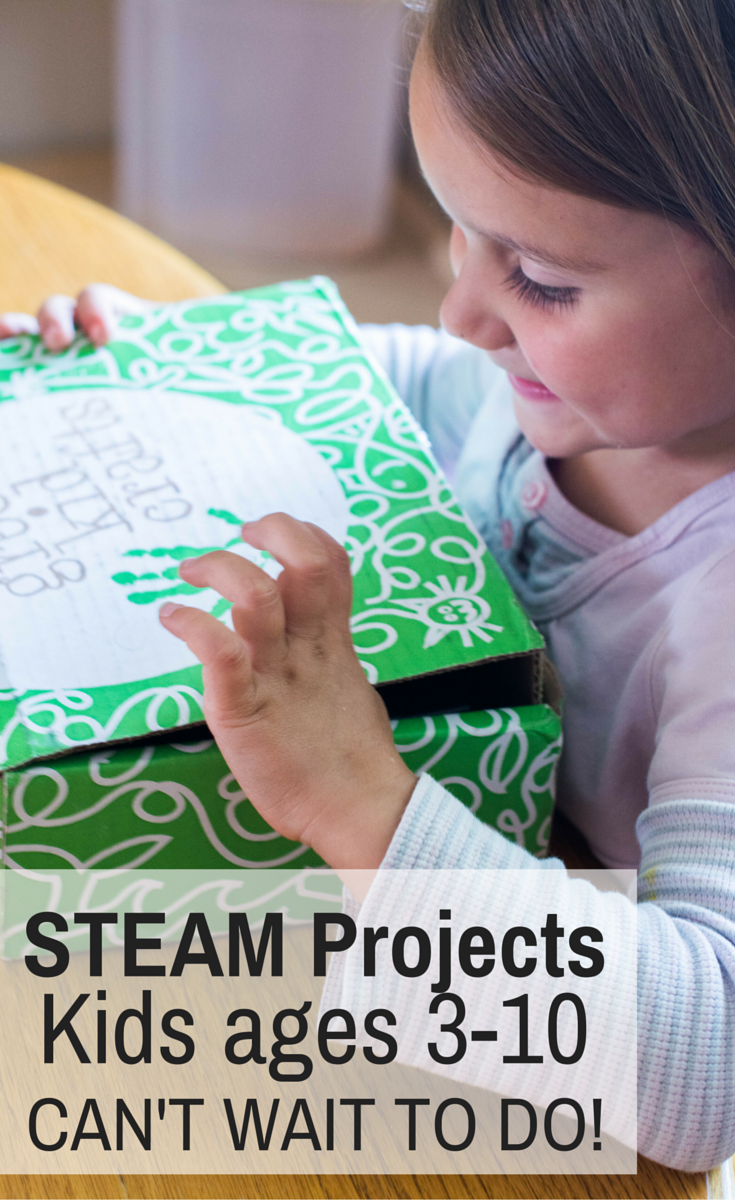 STEAM Projects for kids with Green Kid Crafts, a craft subscription box for kids ages 3-10. Green kid crafts review | stem learning | steam learning | Stem projects | preschool art | preschool subscription box | Science subscription box | science activities | summer learning | fun summer learning | science kit | homeschool science | homeschooling science | homeschool art | homeschooling art | homeschool preschool | homeschooling preschool | hands on math | hands on learning