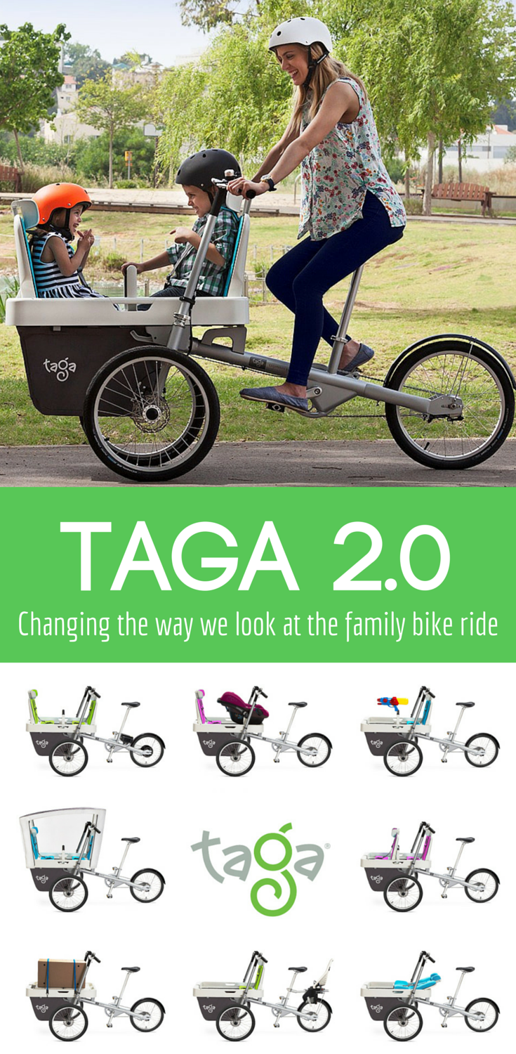 Taga 2.0: changing the way we think of the family bike ride: taga 2.0 | family bike ride | exercise | family activities | kids bike | bike trailer | outdoor activities | outdoor fun | outdoor family activities |